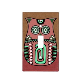 Retro Colorful Owl Boho Bohemian Bird Custom Light Switch Cover
