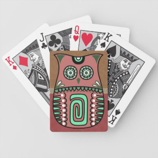 Retro Colorful Owl Boho Bohemian Bird Custom Poker Deck