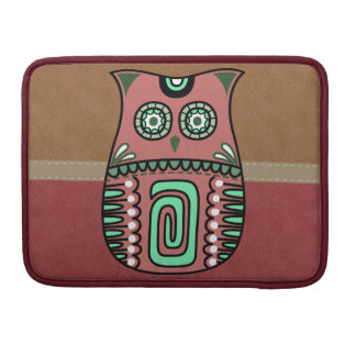 Retro Colorful Owl Boho Bohemian Bird Custom Sleeve For MacBooks