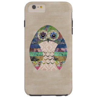 Retro Colorful Owl Boho Bohemian Bird Custom Tough iPhone 6 Plus Case