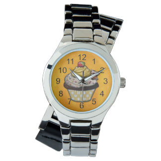Retro Colorful Party Cupcakes Watch