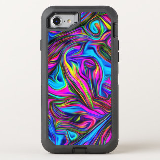 Retro Colorful Pattern OtterBox Defender iPhone 8/7 Case
