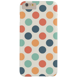 Retro Colorful Polka Dots Pattern Barely There iPhone 6 Plus Case