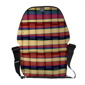 Retro colorful stripes graphic design courier bags