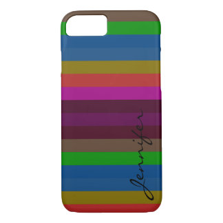 Retro Colorful Stripes Pattern iPhone 7 Case