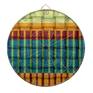Retro colorful stripes wicker art graphic design dart boards