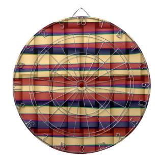 Retro colorful stripes wicker graphic design 2 dart boards