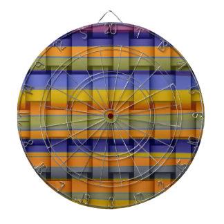 Retro colorful stripes wicker graphic design dartboards