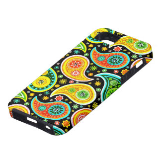 Retro Colorful Warm Tones Paisley Pattern iPhone 5 Cases