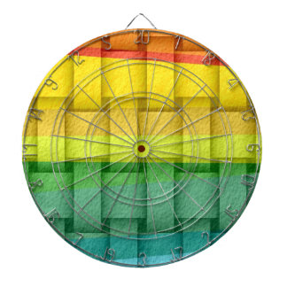 Retro colorful wicker art graphic design dart board