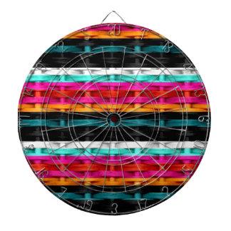 Retro colorful wicker art graphic design dartboard