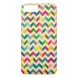 Retro colorful zig zag pattern design iPhone 7 plus case