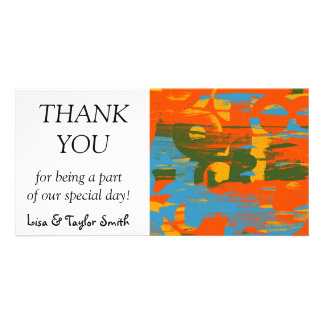 Retro colors abstract art photo cards