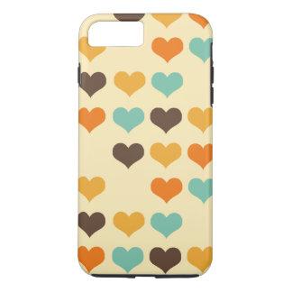 Retro Colors Hearts Pattern iPhone 7 Plus Case