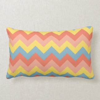 Retro Colour Chevron Lumbar Pillow