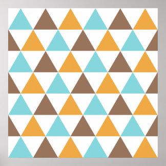 Retro Colour Triangle Pattern Poster