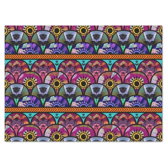 Retro Colourful Beautiful Boho Bohemian Tissue Paper