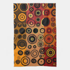Retro Colourful Fifties Abstract Art 3 Kitchen Towel