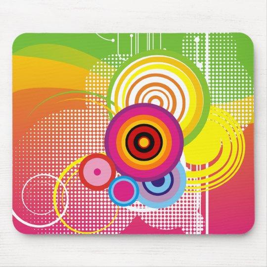 Retro colourful mousepad