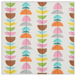 Retro Colourful Nests Fabric