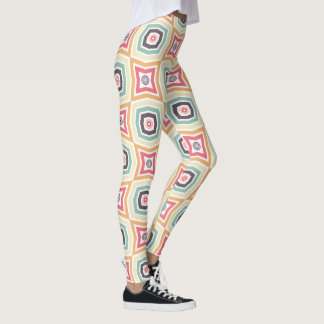 Retro Colourful Pattern Leggings