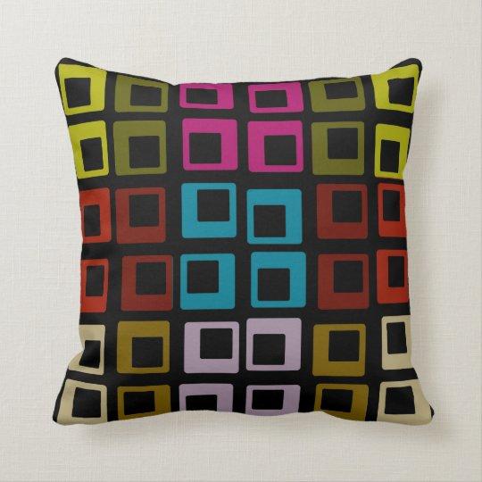 Retro Colourful Pattern Seamless Art Throw Pillow
