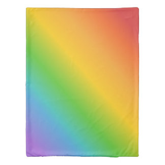 Retro Colours of the Rainbow Twin Size Duvet Cover