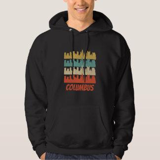 Retro Columbus OH Skyline Pop Art Hoodie