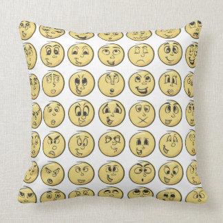 Retro Comic Book Emoji Pillow