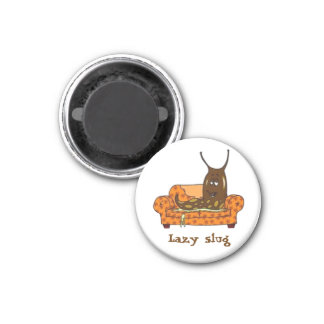Retro Comic Toon Lazy Slug Magnet