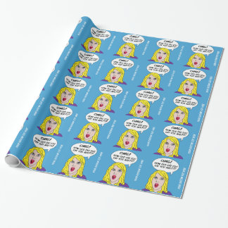 RETRO COMICS custom birthday wrapping paper