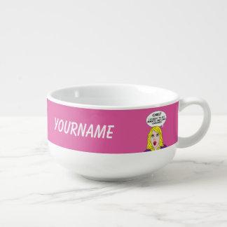 RETRO COMICS custom soup bowl Soup Mug