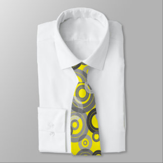 Retro concentric rings / vinyl records tie