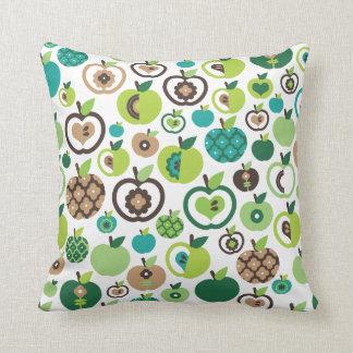 Rétro conception de fleur de motif de pomme oreillers