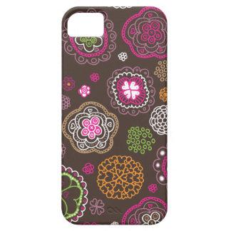 Rétro conception de motif de coeur de fleurs de étui iPhone 5