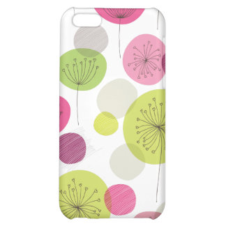 Rétro conception mignonne de motif de fleur d'arbr coques iPhone 5C
