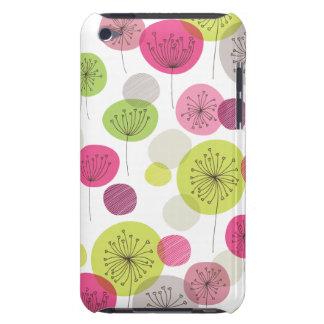 Rétro conception mignonne de motif de fleur d'arbr étuis iPod touch