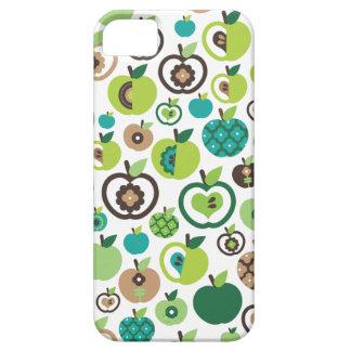 Rétro conception mignonne de motif de fleur de coque iPhone 5 Case-Mate