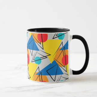 Retro Contemporary Geometric Colorful Pattern Mug