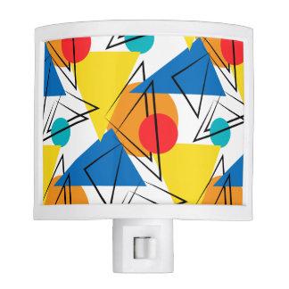 Retro Contemporary Geometric Colorful Pattern Night Lights