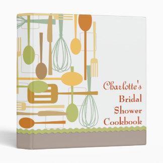 Retro Cooking Bridal Shower Cookbook Recipe Binder