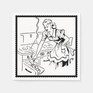 Retro Cooking Mom Paper Napkin