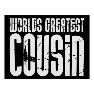 Retro Cool Cousins World s Greatest Cousin Print