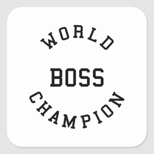 Retro Cool Gifts for Bosses : World Champion Boss Sticker