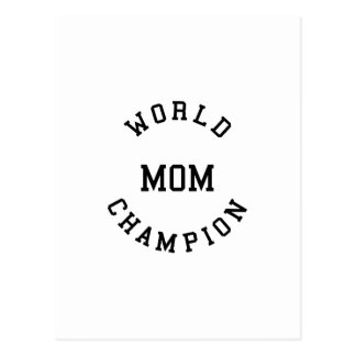 Retro Cool Gifts for Moms : World Champion Mom Postcard