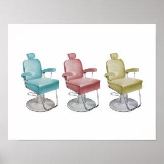 Rétro copie vintage de chaise de styliste de décor affiches