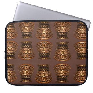Retro copper Grecian urn design Laptop Sleeve