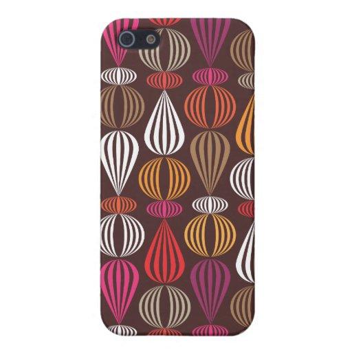 Rétro coque iphone brun orange mignon de motif coque iPhone 5