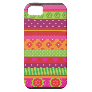 Rétro coque iphone de conception de point de polka iPhone 5 case