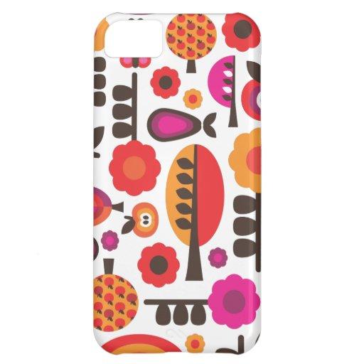 Rétro coque iphone de motif de papillon de fleur étuis iPhone 5C